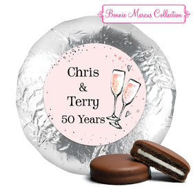 Cheers to the Years Anniversary Favors Milk Chocolate Covered Oreo Assembled (24 Pack)