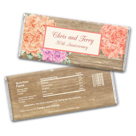 Blooming Joy Anniversary Party Favor Personalized Candy Bar - Wrapper Only