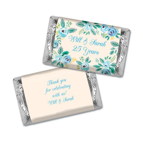 Here's Something Blue Anniversary Personalized Miniature Wrappers