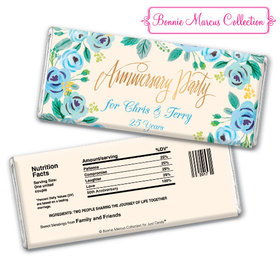 Bonnie Marcus Collection Personalized Chocolate Bar Chocolate & Wrapper Here's Something Blue Anniversary Favors