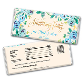 Here's Something BlueAnniversary Favors Personalized Candy Bar - Wrapper Only