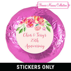 In the Pink Anniversary Favors 1.25in Stickers
