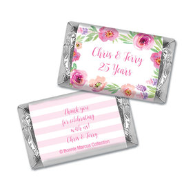 Floral Embrace Anniversary Personalized Miniature Wrappers