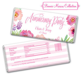 Bonnie Marcus Collection Personalized Chocolate Bar Chocolate & Wrapper Floral Embrace Anniversary Favors