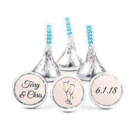 Personalized Hershey's Kisses - Bonnie Marcus Anniversary Bubbly Party Pink (50 Pack)