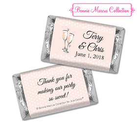 Personalized Hershey's Miniatures - Bonnie Marcus Anniversary Pink Anniversary Party Bubbly