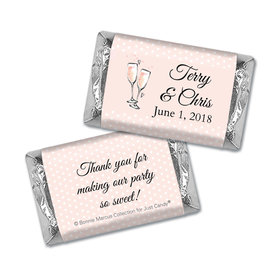 Personalized Mini Wrappers Only - Bonnie Marcus Anniversary Pink Anniversary Party Bubbly