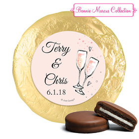Personalized Chocolate Covered Oreos - Anniversary Bubbly Party Pink (24 Pack)