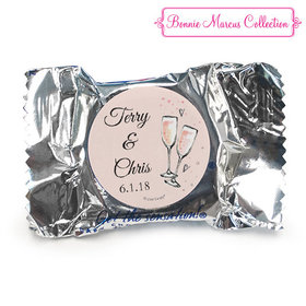 Personalized York Peppermint Patties - Anniversary Bubbly Party Pink