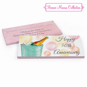 Deluxe Personalized Champagne Bucket Anniversary Chocolate Bar in Gift Box
