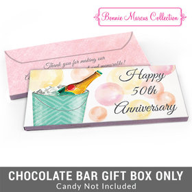 Deluxe Personalized Champagne Bucket Anniversary Candy Bar Favor Box