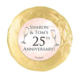 Personalized Anniversary Champagne Party Chocolate Covered Oreos (24 Pack)