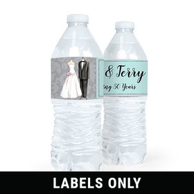 Personalized Anniversary Together Forever Water Bottle Sticker Labels (5 Labels)