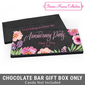 Deluxe Personalized Floral Embrace Anniversary Candy Bar Favor Box