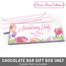 Deluxe Personalized Floral Embrace Anniversary Candy Bar Cover