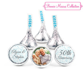 Personalized Hershey's Kisses - Bonnie Marcus Anniversary Vintage Linen (50 Pack)