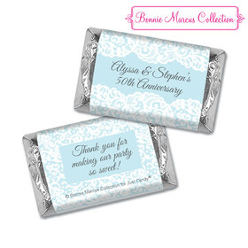 Personalized Hershey's Miniatures - Bonnie Marcus Anniversary Lace Linen