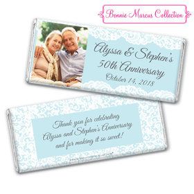 Personalized Bonnie Marcus Chocolate Bar & Wrapper - Anniversary Lace Linen