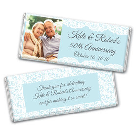 Personalized Bonnie Marcus Chocolate Bar Wrappers Only - Anniversary Lace Linen