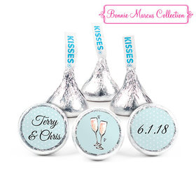 Personalized Hershey's Kisses - Bonnie Marcus Anniversary Bubbly Party Blue (50 Pack)