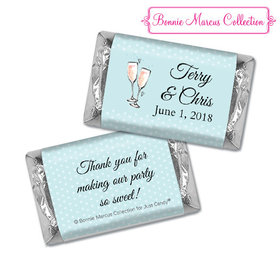 Personalized Hershey's Miniatures - Bonnie Marcus Anniversary Blue Anniversary Party Bubbly