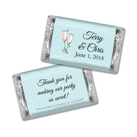 Personalized Mini Wrappers Only - Bonnie Marcus Anniversary Blue Anniversary Party Bubbly