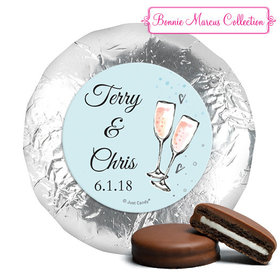 Personalized Chocolate Covered Oreos - Anniversary Bubbly Party Blue (24 Pack)