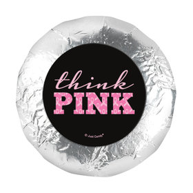 "Personalized Bonnie Marcus 1.25"" Stickers - Breast Cancer Awareness Pink Power (48 Stickers)"