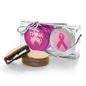 Breast Cancer Awareness Think Pink Chocolate Covered Oreos 2pk