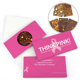 Personalized Bonnie Marcus Simply Pink Breast Cancer Awareness Gourmet Infused Belgian Chocolate Bars (3.5oz)