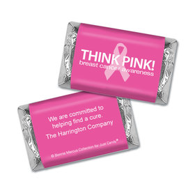Personalized Bonnie Marcus Hershey's Miniatures - Breast Cancer Awareness Simply Pink