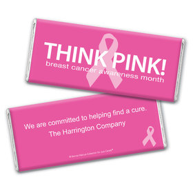 Personalized Bonnie Marcus Chocolate Bar & Wrapper - Breast Cancer Awareness Simply Pink