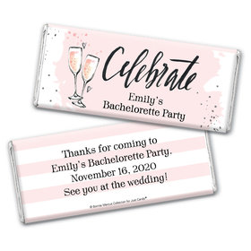 The Bubbly Custom Bachelorette Party Personalized Candy Bar - Wrapper Only