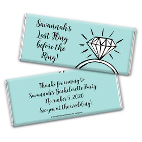 Last Fling Bachelorette Party Favors Personalized Candy Bar - Wrapper Only