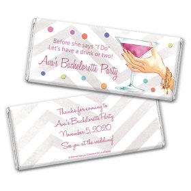 Here's to You Bachelorette Party Personalized Candy Bar - Wrapper Only
