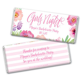 Floral Embrace Bachelorette Favors Personalized Candy Bar - Wrapper Only