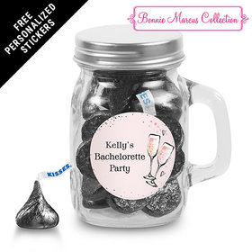 Bonnie Marcus Collection Personalized Mini Mason Jar The Bubbly Custom Bachelorette Party (12 Pack)