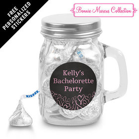 Bonnie Marcus Collection Personalized Mini Mason Jar Sweetheart Swirl Bachelorette Party (12 Pack)