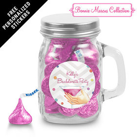 Bonnie Marcus Collection Personalized Mini Mason Jar Here's to You Bachelorette Party (12 Pack)