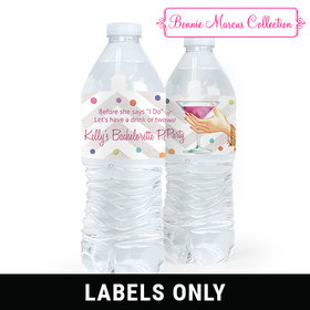 Personalized Bachelorette Party Here's to You Water Bottle Sticker Labels (5 Labels)
