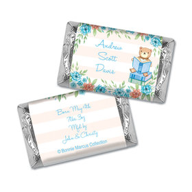 Story Time Boy Birth Announcement Personalized Miniature Wrappers