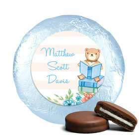 Story Time Baby Boy Favors Milk Chocolate Covered Oreo Assembled (24 Pack)