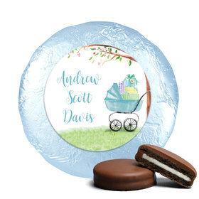 Rockabye Baby Boy Favors Milk Chocolate Covered Oreo Cookies Assembled (24 Pack)