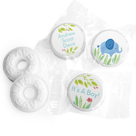 Safari Snuggles Baby Boy Personalized LIFE SAVERS Mints Assembled