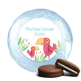 Safari Snuggles Birth Announcement Milk Chocolate Covered Oreo Assembled (24 Pack)