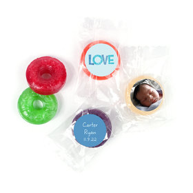Bonnie Marcus Personalized LifeSavers 5 Flavor Hard Candy Patterned Love Boy Birth Announcement (300 Pack)