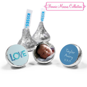 Bonnie Marcus Collection Personalized HERSHEY'S KISSES Candy Patterned Love Boy Birth Announcement (50 Pack)