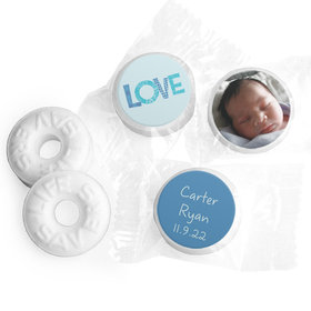 Bonnie Marcus Collection Personalized LIFE SAVERS Mints Patterned Love Boy Birth Announcement