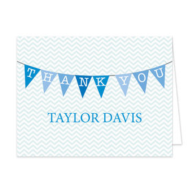 Bonnie Marcus Collection Personalized Chevron Banner Boy Thank You