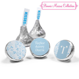 Bonnie Marcus Collection Personalized HERSHEY'S KISSES Candy Flowers and Cute Animals Boy Birth Announcement (50 Pack)